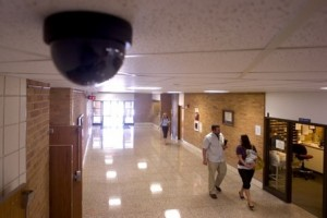 surveillance camera at school