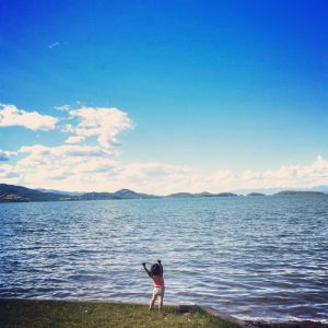 Zayda at Flathead Lake (Photo by Christa)